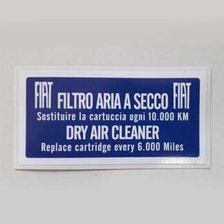 Mærke for luftfilter